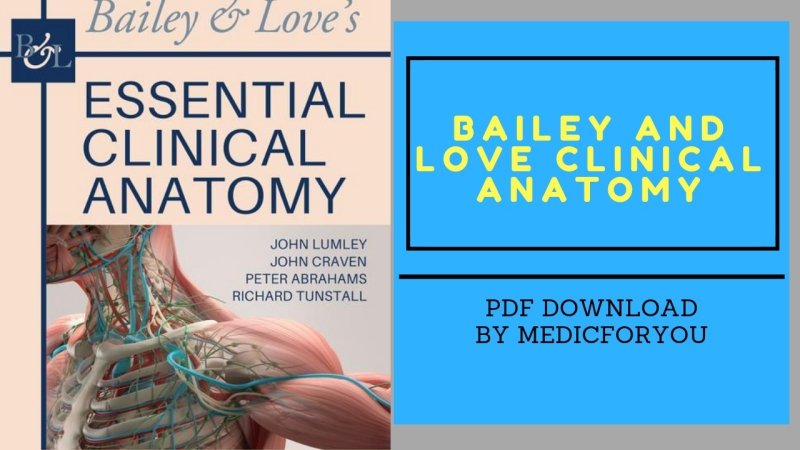 Bailey and Love Clinical Anatomy PDF Book Download | MedicForYou